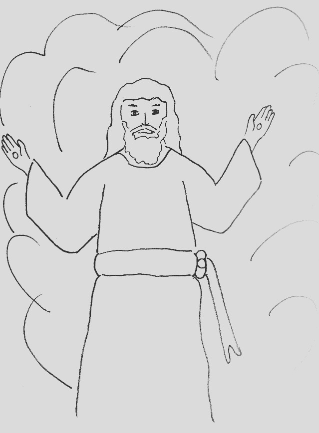 bible story coloring page lord jesus is ing again