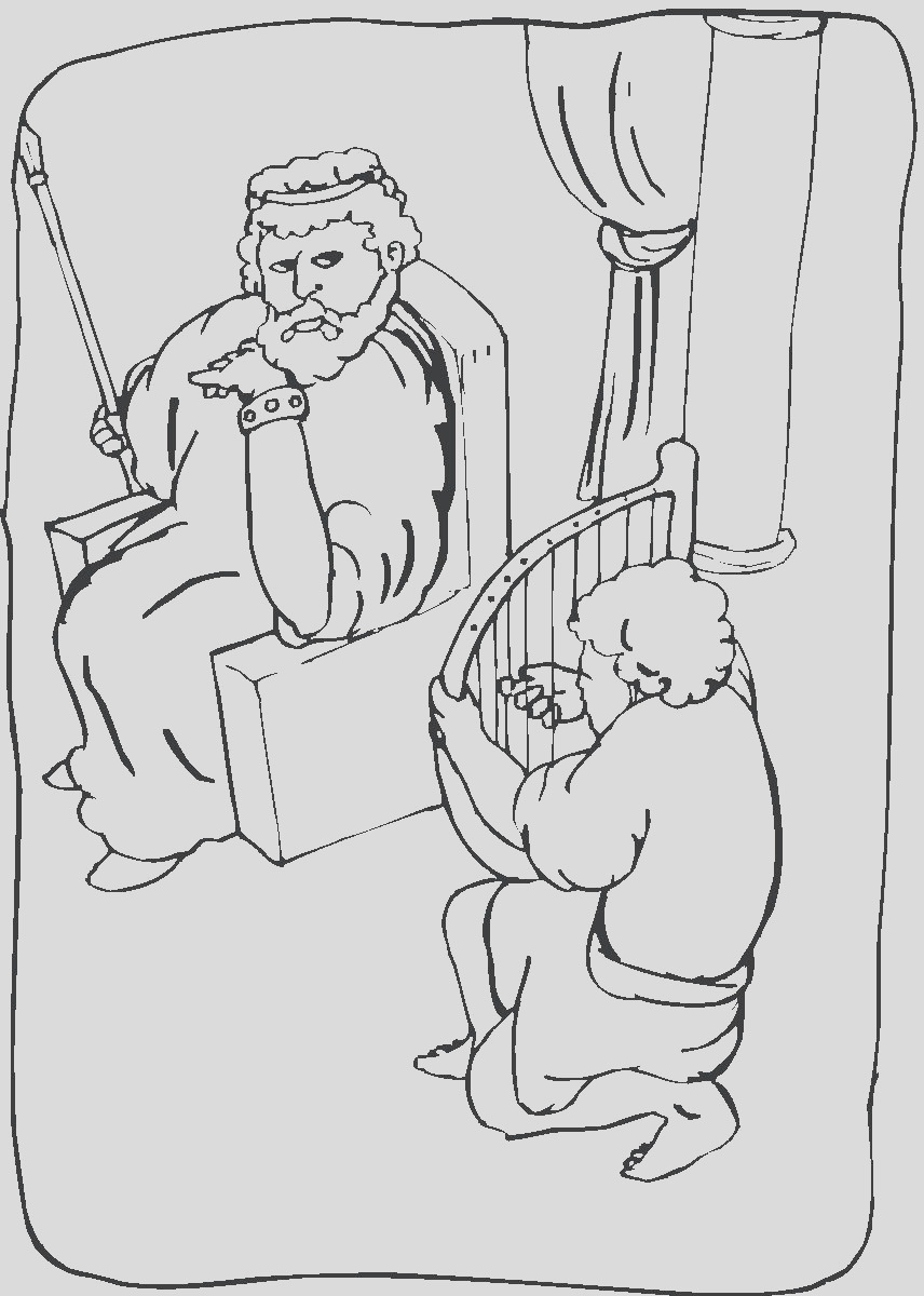 king david coloring pages sketch templates