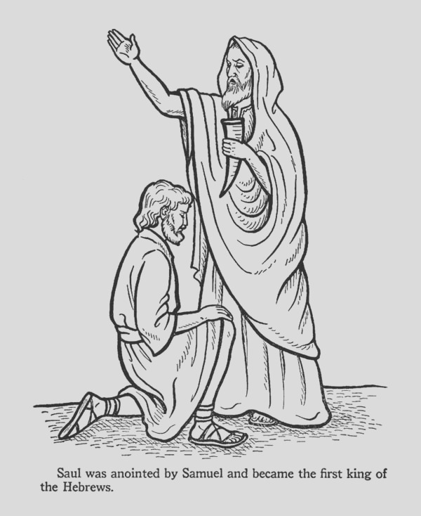 the first kig hebrew is king saul coloring page