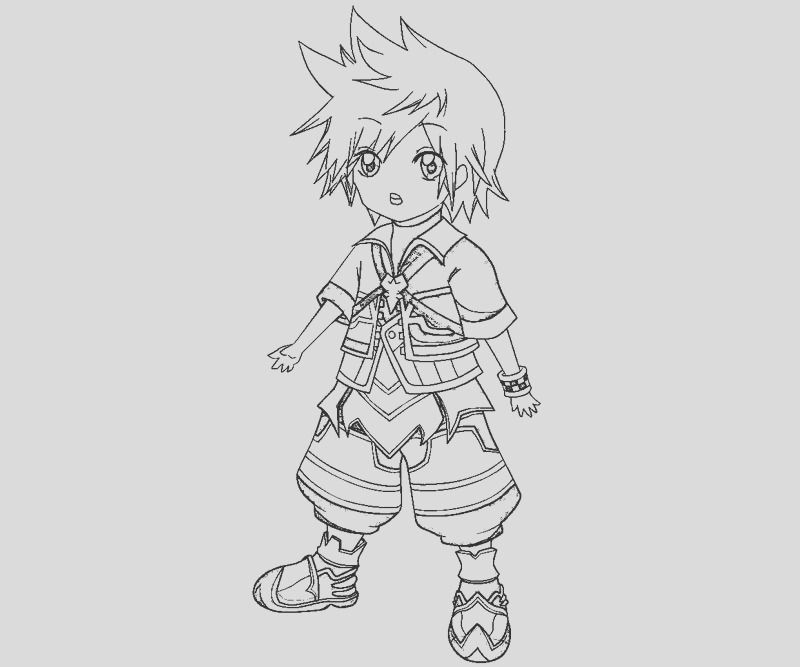 kingdom hearts 2 coloring pages