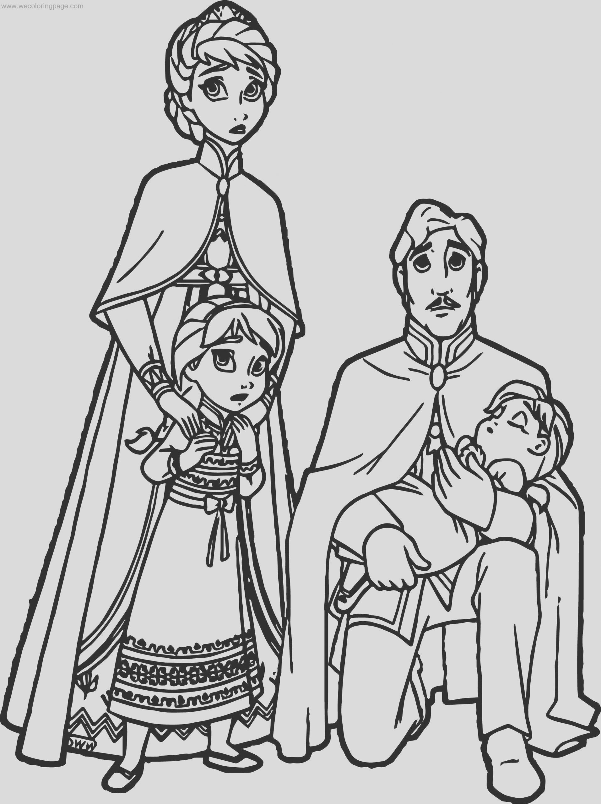 king queen arendelle coloring page