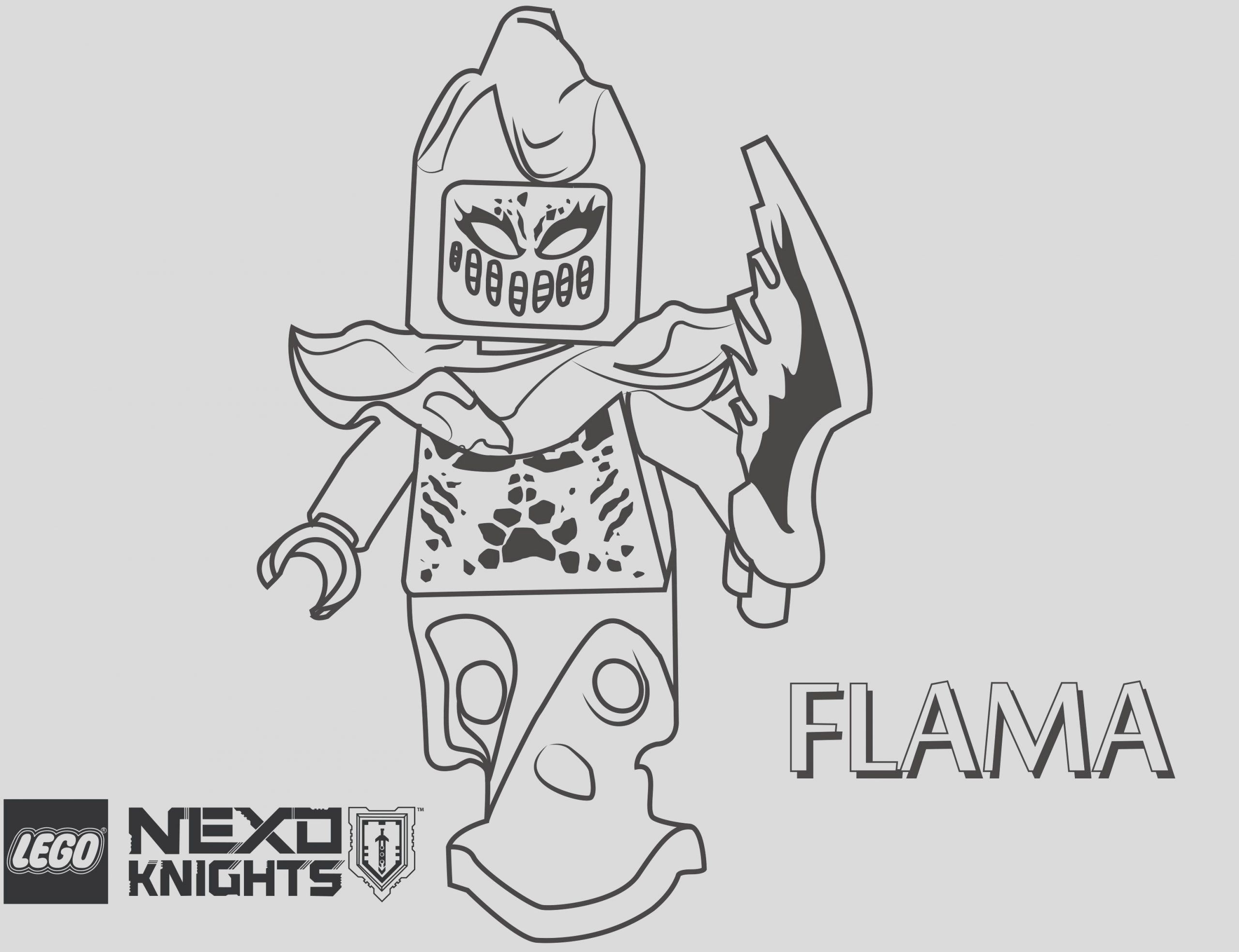 lego knight coloring pages