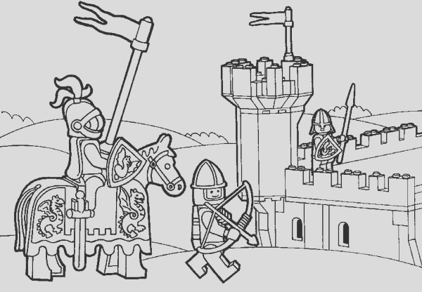 knight kingdom lego coloring page