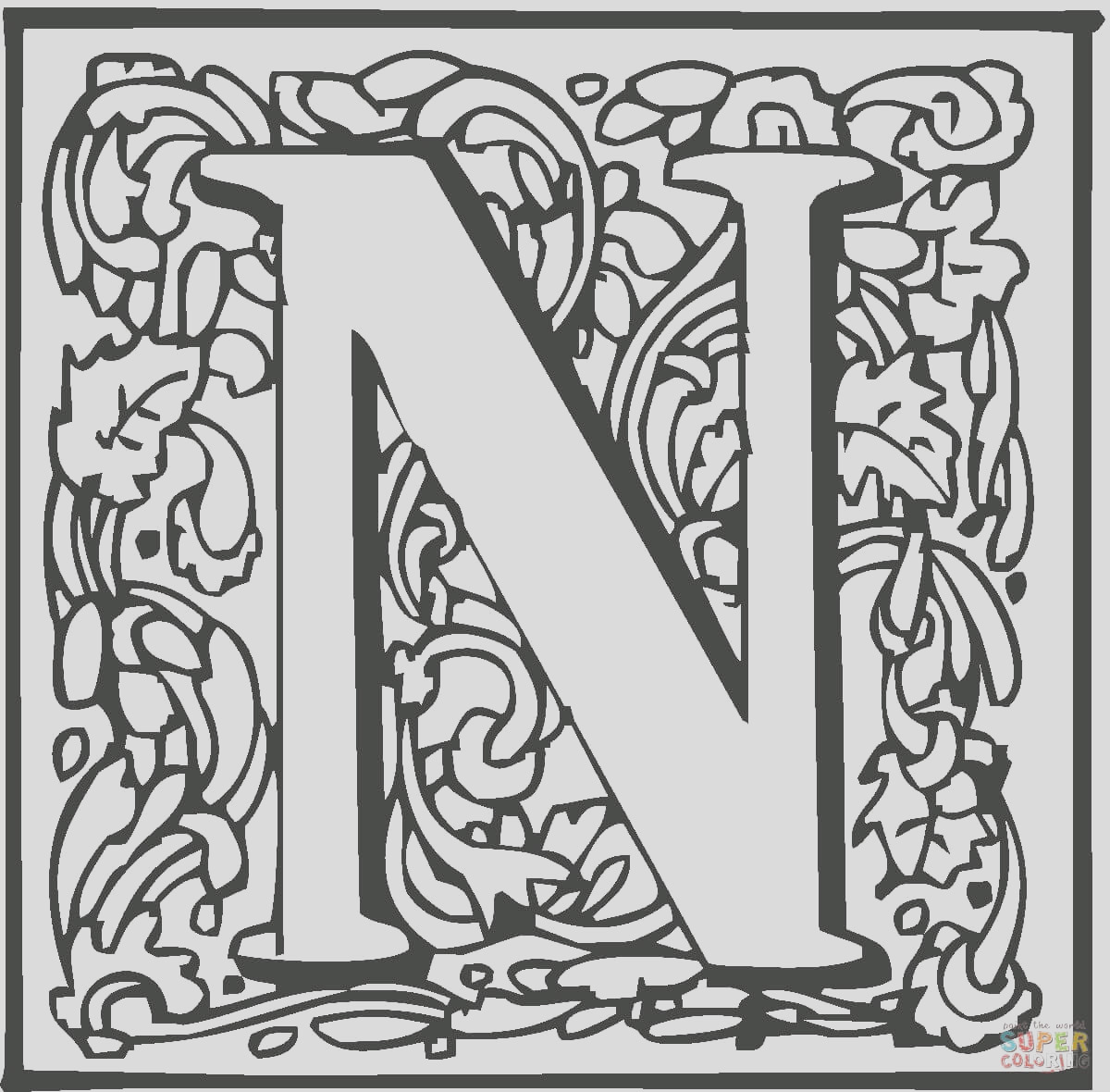 letter n with ornament
