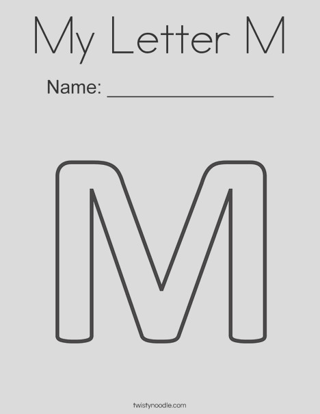 my letter m 2 coloring page