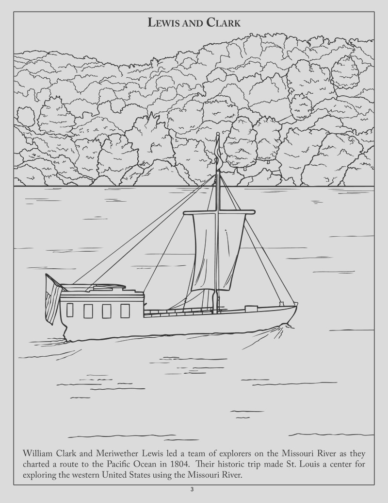 missouri river country coloring book