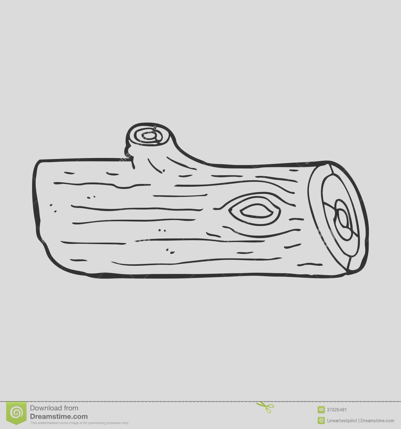 wood log clipart black and