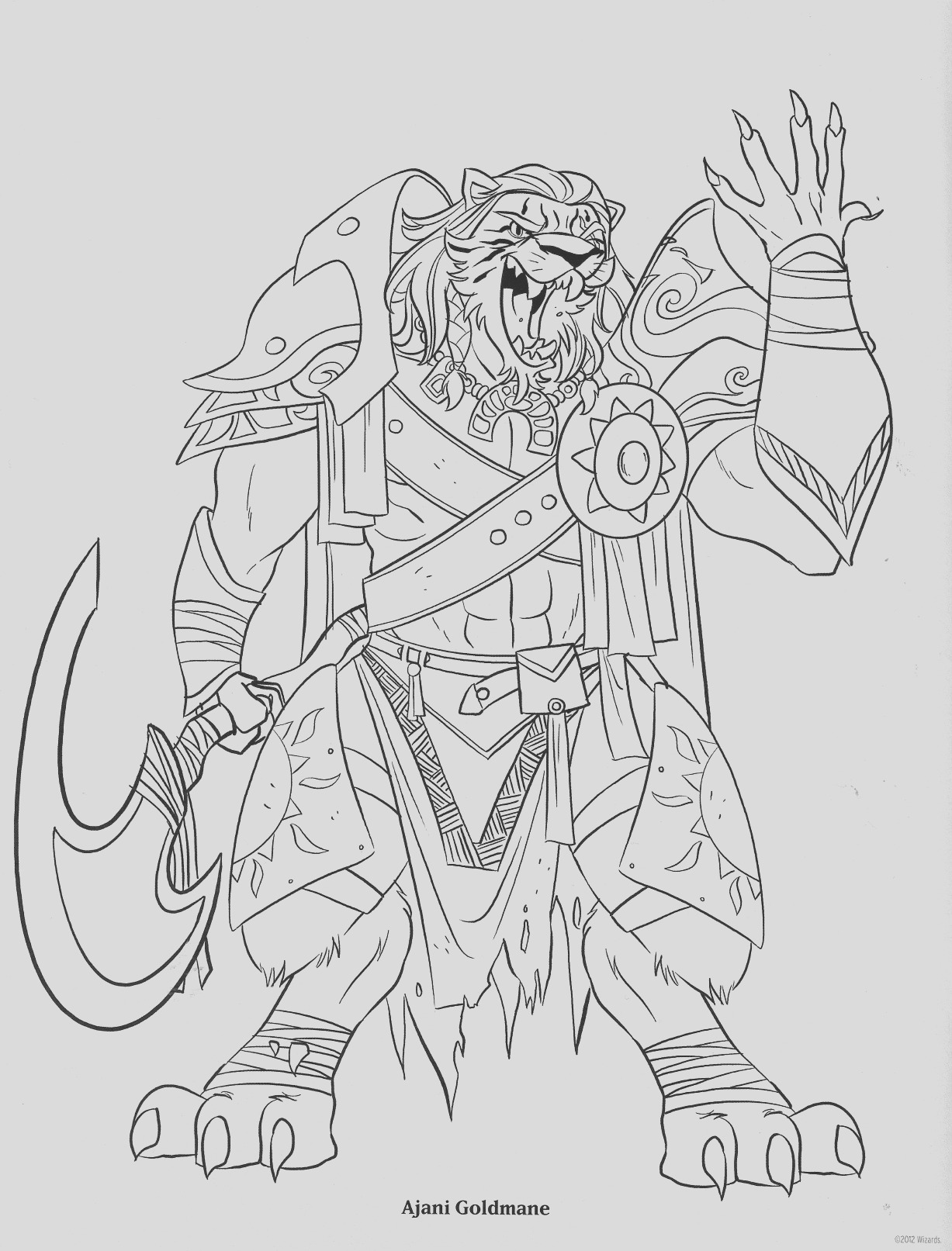 magic the gathering coloring book pages