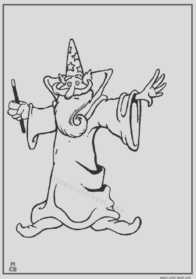 magic coloring pages free