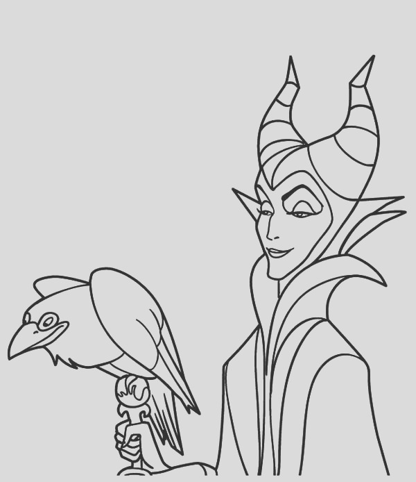 the evil maleficent coloring pages