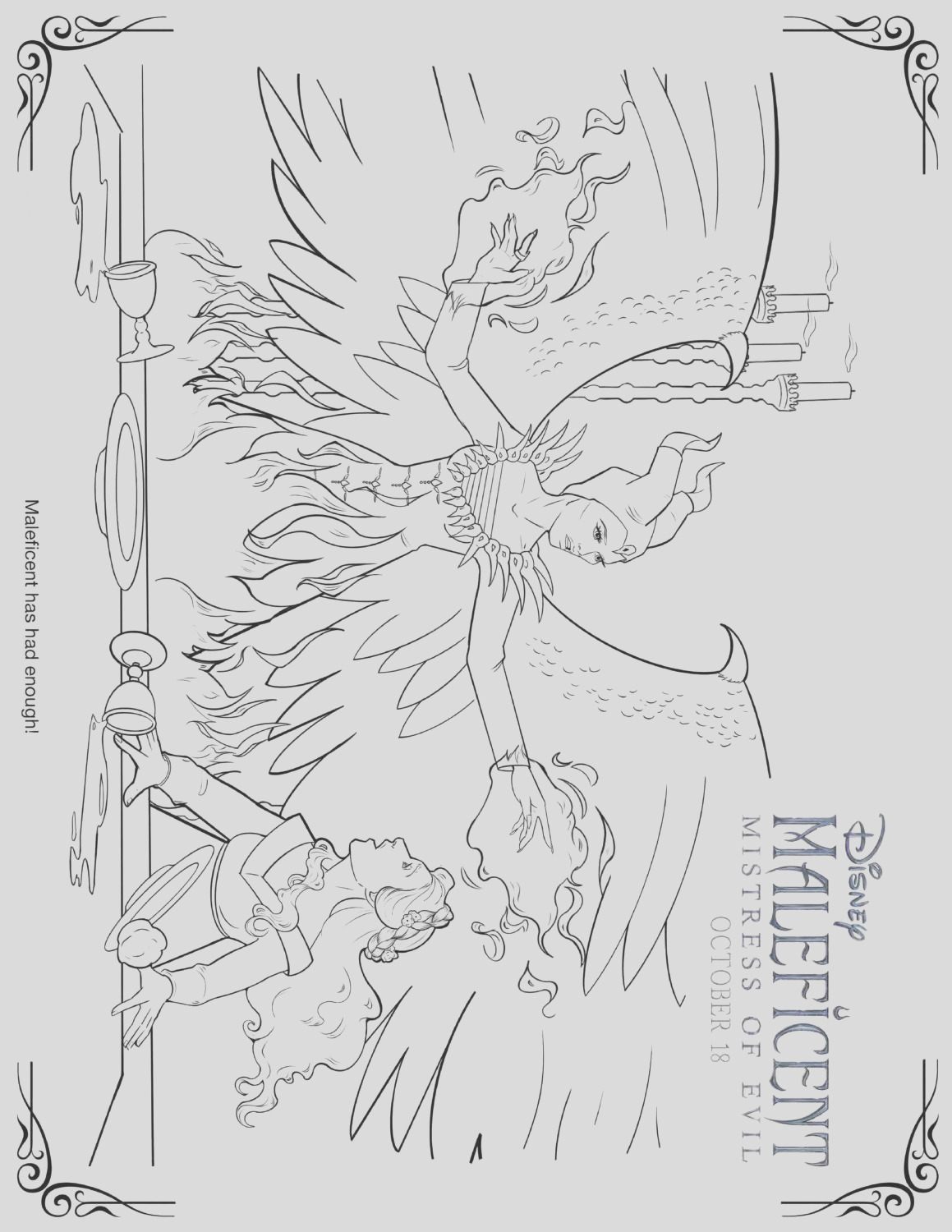 maleficent 2 coloring pages and activity sheets
