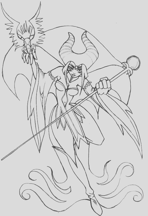 maleficent coloring pages for kids 2