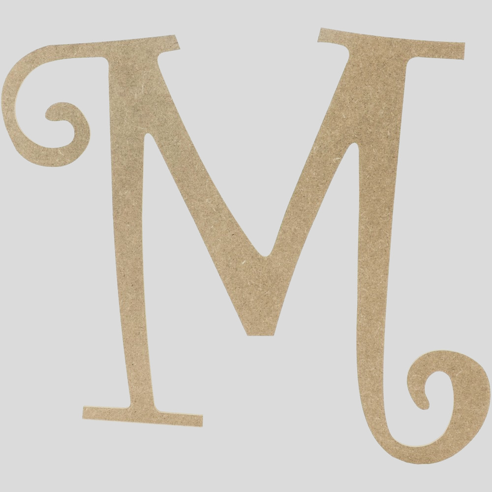 14 decorative wooden curly letter m