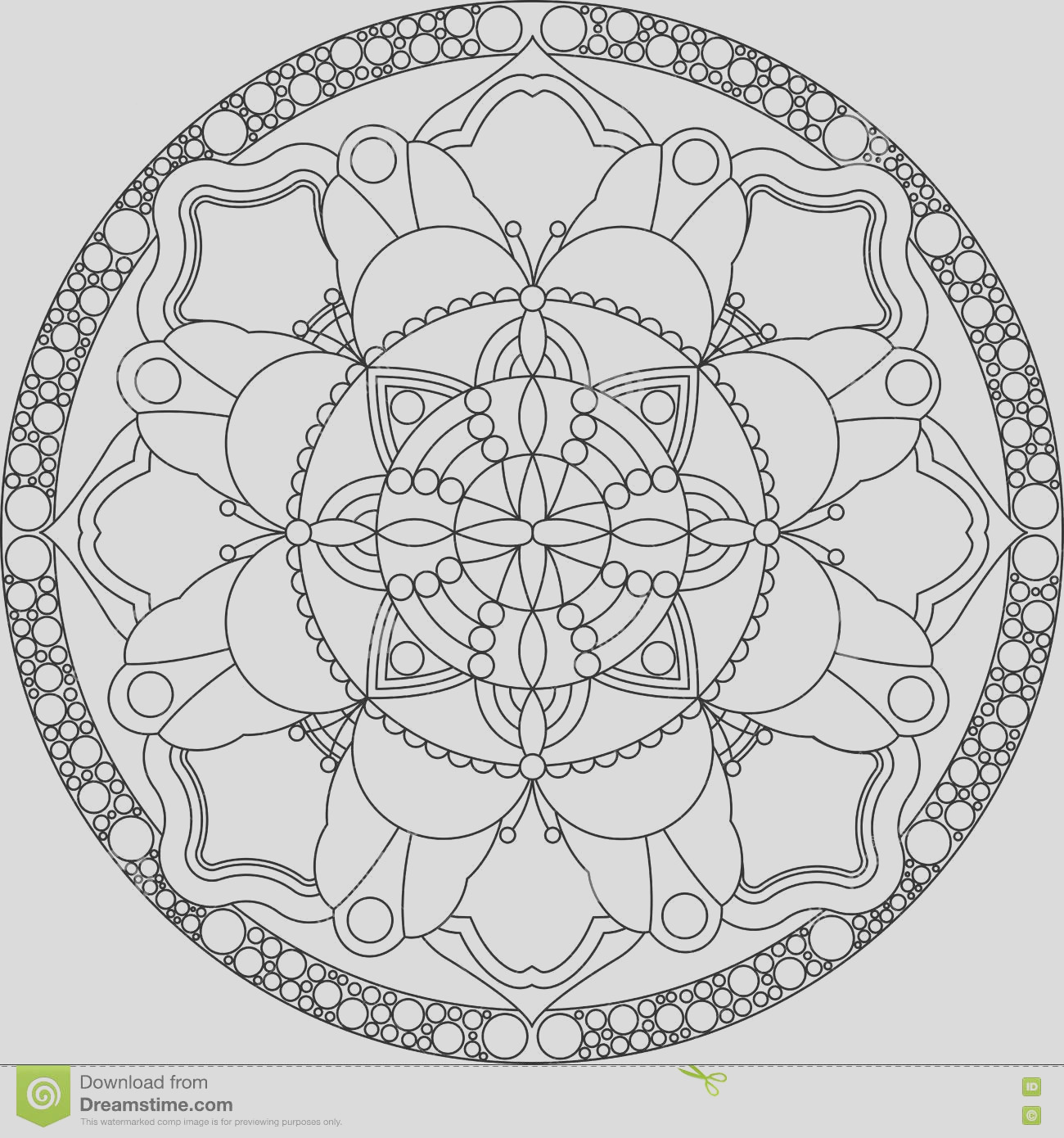 stock illustration zentangle adult coloring page mandala book pages adults rest relaxing meditation illustration image