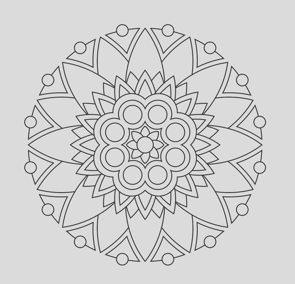 simple mandala coloring pages for kids