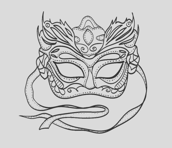 mardi gras mask coloring pages for kids