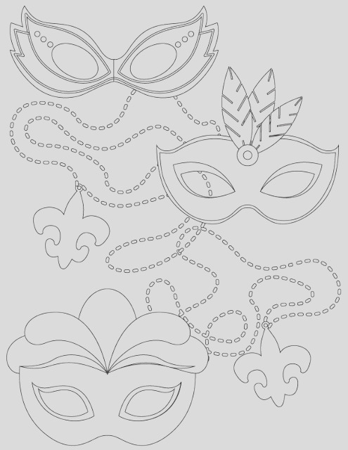 mardi gras adult and kid coloring pages