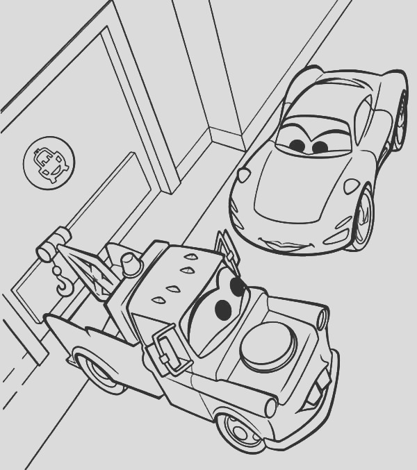 lightning mcqueen and tow mater coloring pages 2