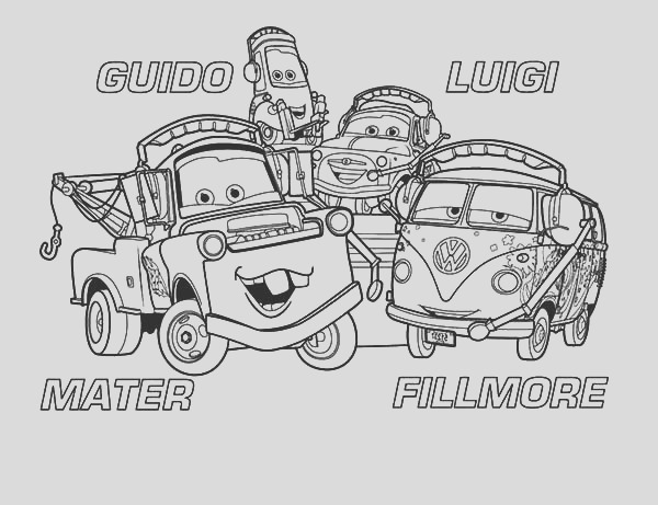 mater and friends coloring pages