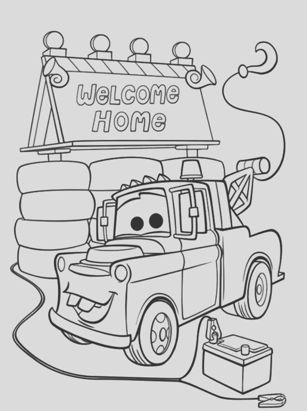tow mater coloring pages free
