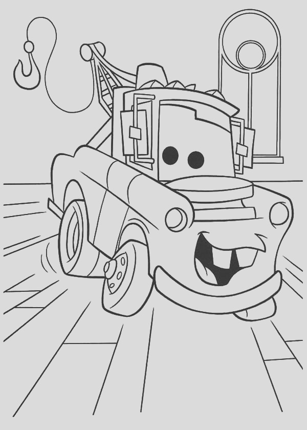 how to draw tow mater coloring pages 2
