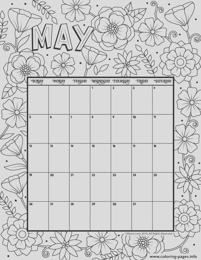 may coloring calendar printable coloring pages book