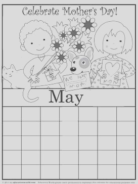 coloring pages for the month of may 3