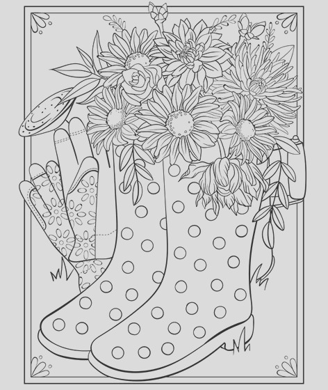 free april coloring page and calendar