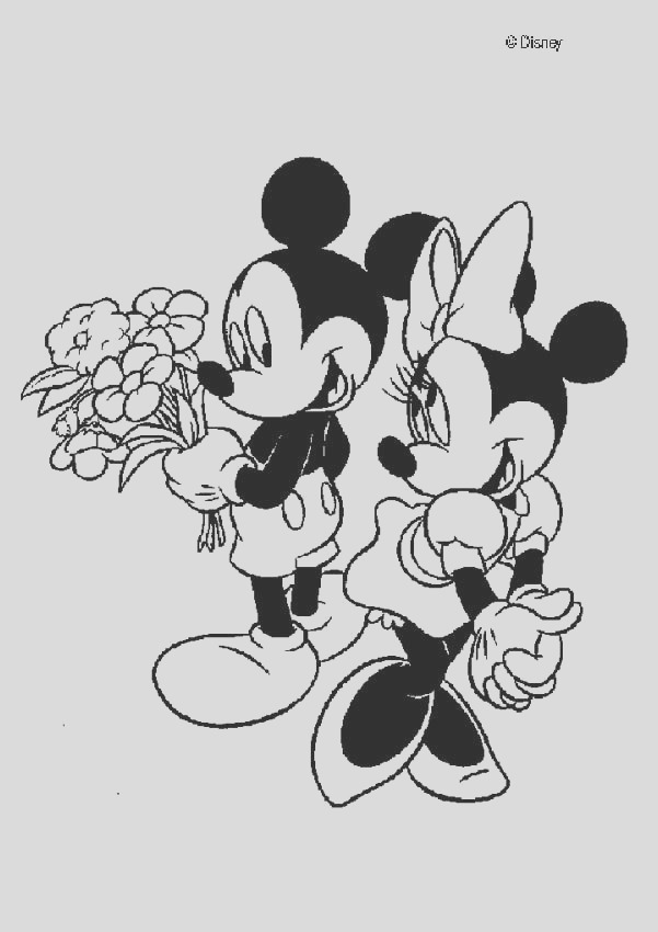 mickey mouse and minnie mouse in love
