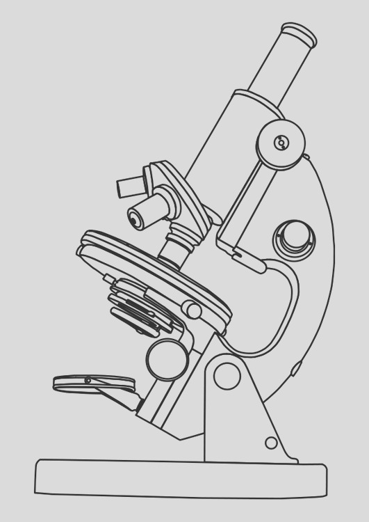 coloring page microscope i