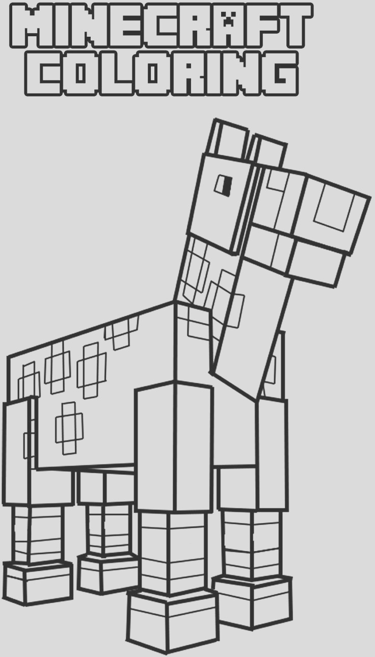 minecraft coloring pages ocelot