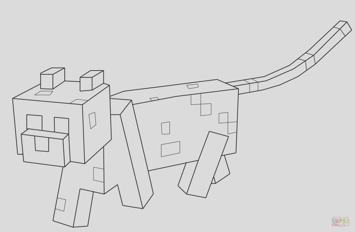 Minecraft Ocelot Coloring Page Beautiful Minecraft Ocelot Coloring Page