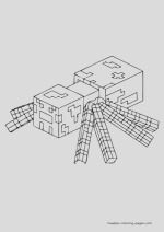 minecraft coloring pages overview 04
