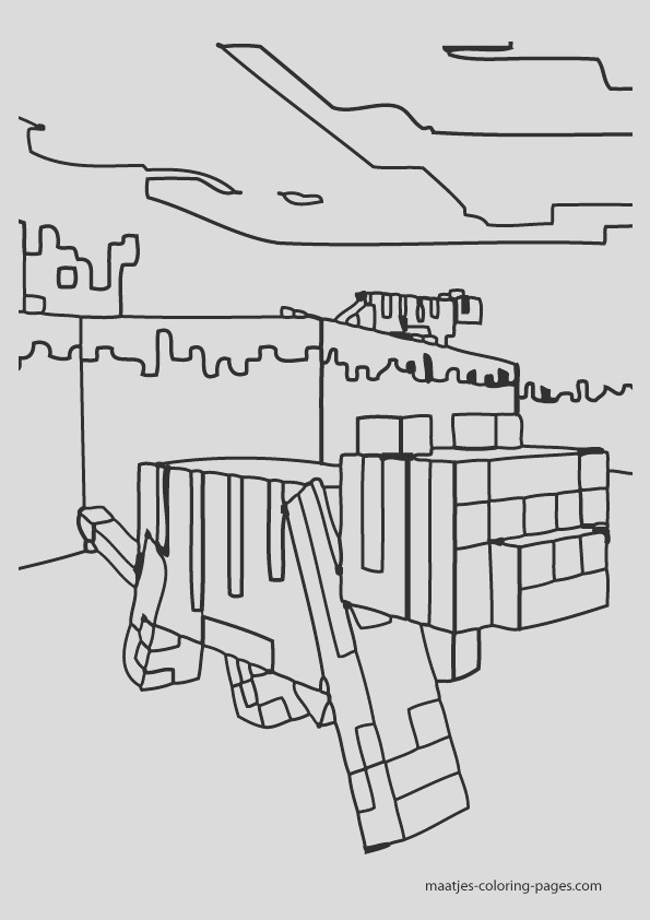 minecraft coloring pages 017