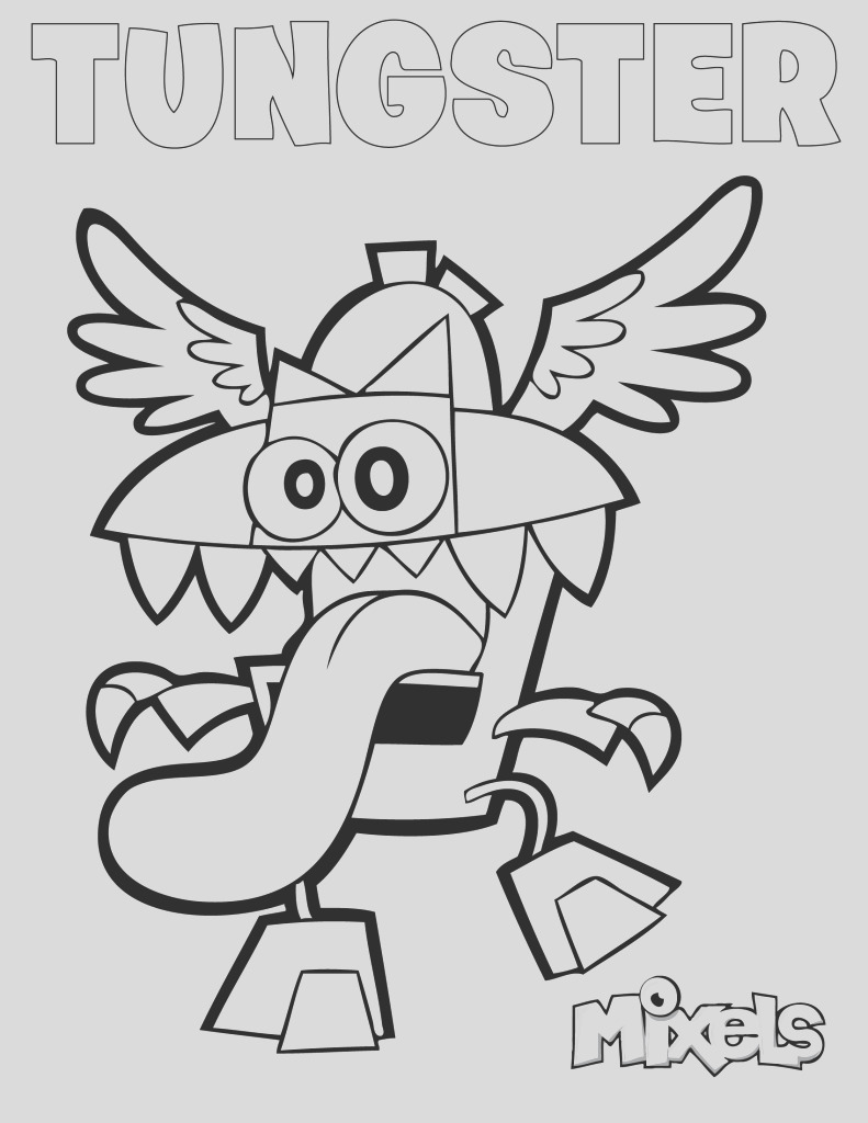 mixels coloring page tungster