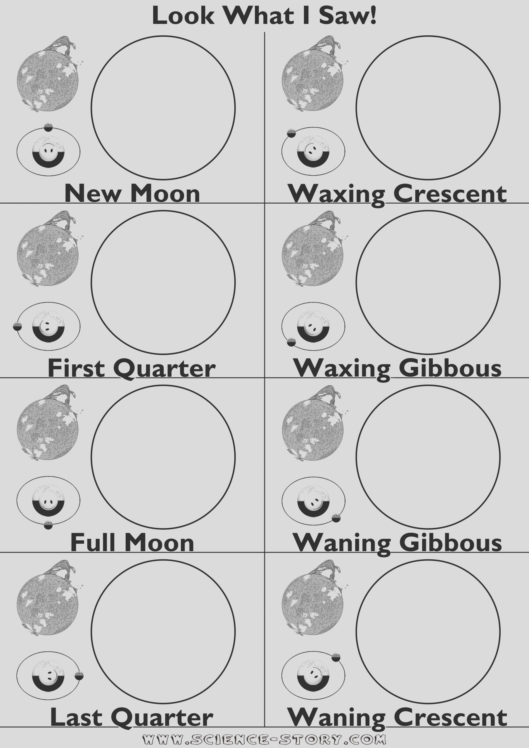 moon phases sketch templates