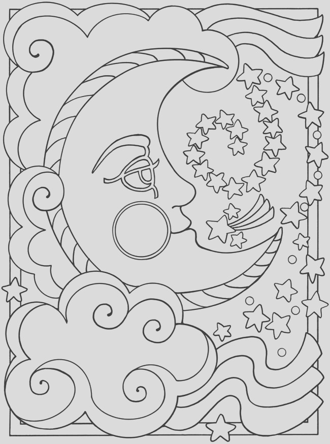 free printable moon coloring pages kids