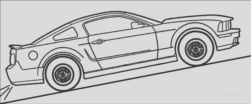 mustang coloring pages