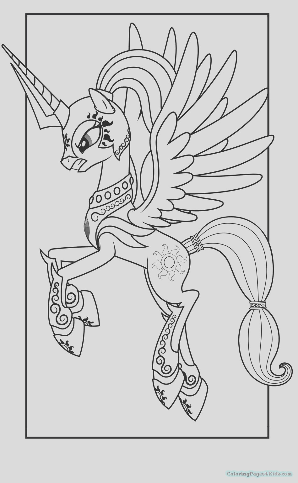 my little pony princess celestia coloring pages 1021