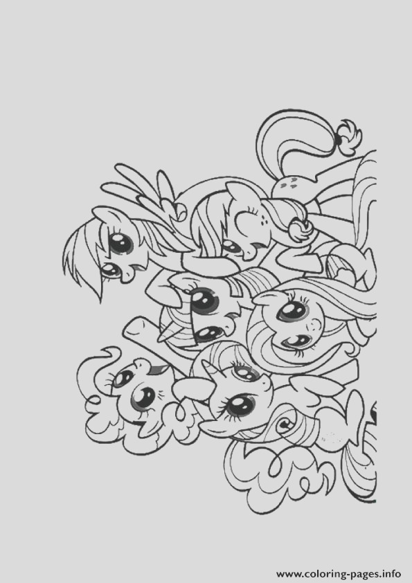 a friendship is magic my little pony printable coloring pages book