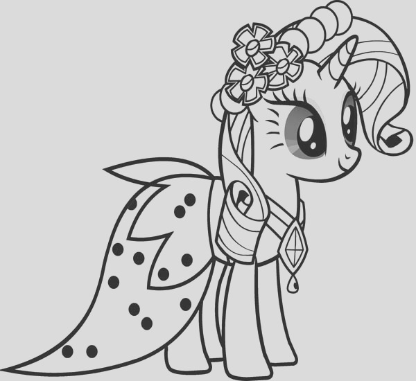 beautiful rarity friendship is magic in my little pony coloring page