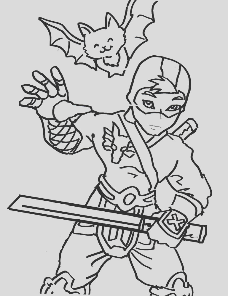 ninja coloring pages