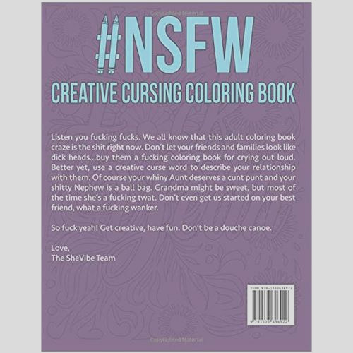 nsfw creative cursing coloring book illustrated by alex kotkin edited by sandra bruce kimberly carroll