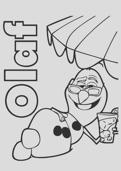 frozen olaf summer coloring page