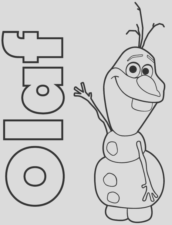 cheerful disney frozen olaf coloring pages