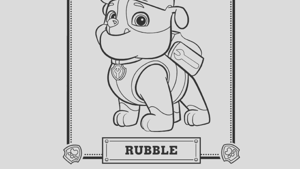 paw patrol rubble pack