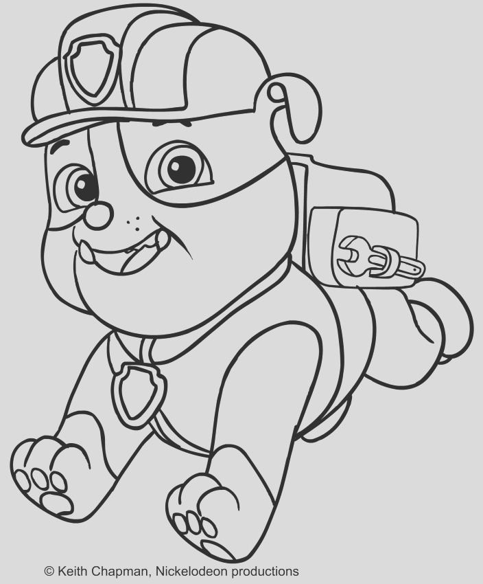 rubble paw patrol coloring pages sketch templates