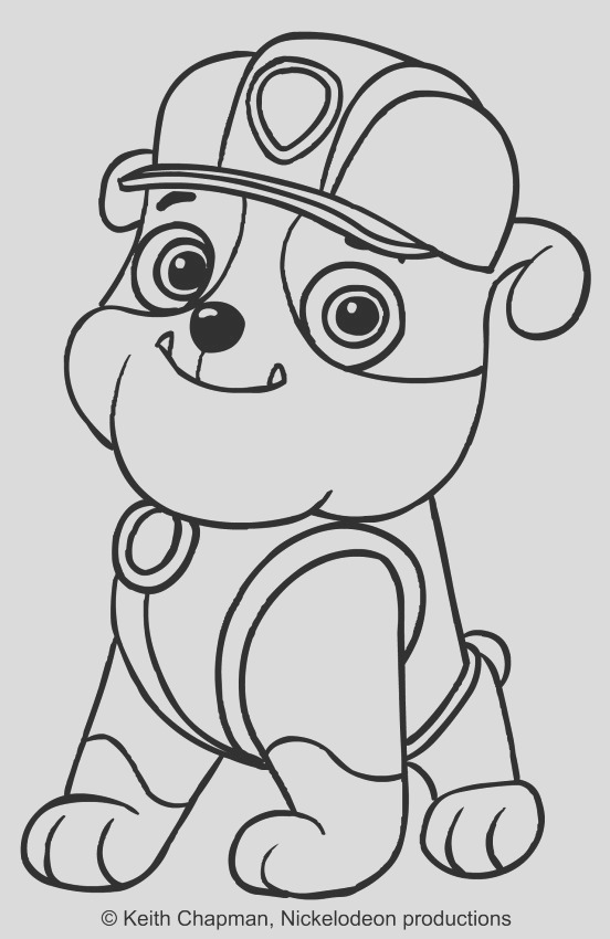 rubble paw patrol coloring pages