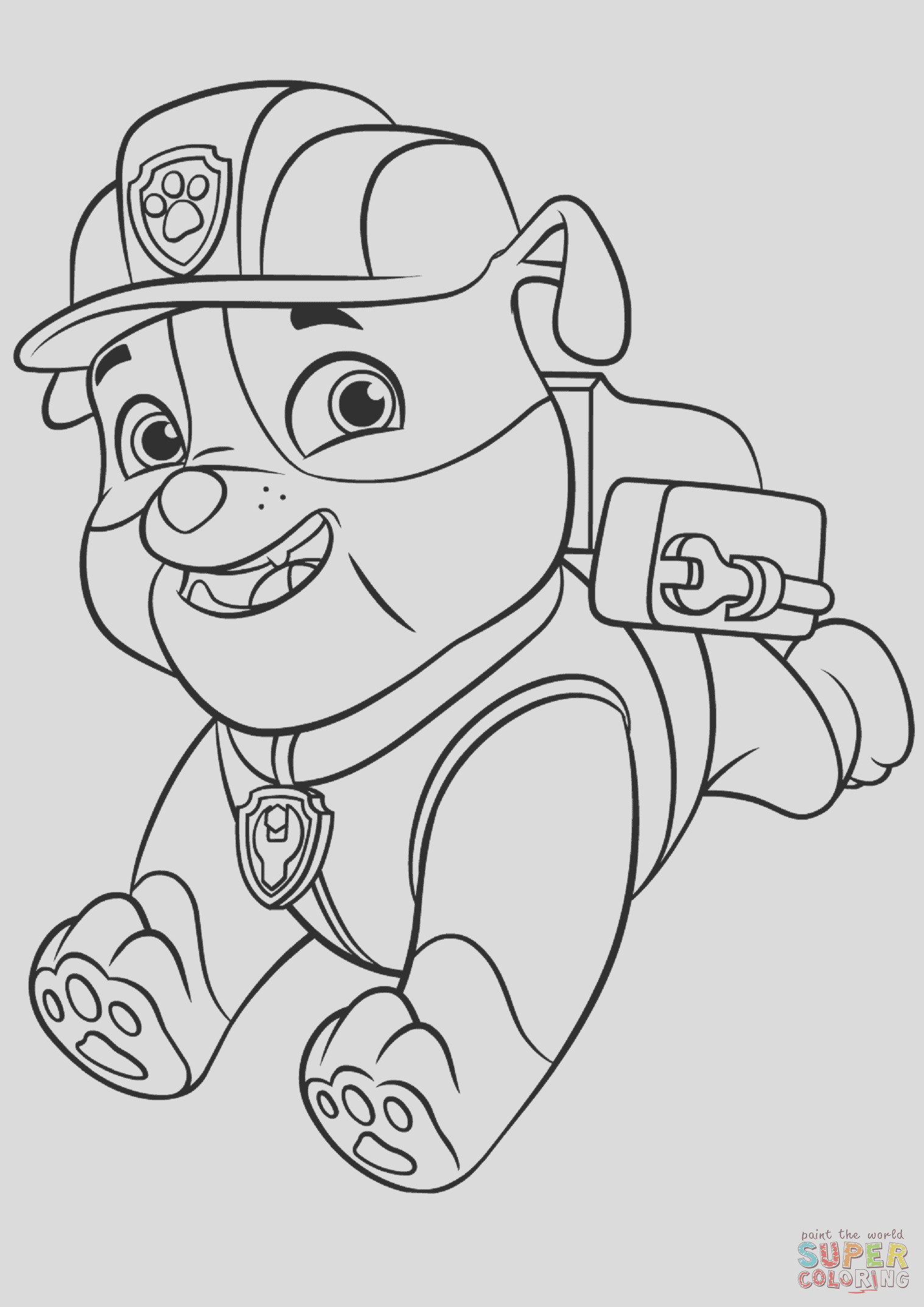 paw patrol rubble with backpack