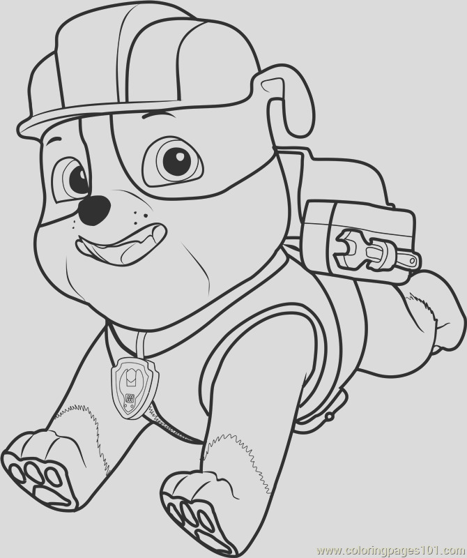 rubble coloring page